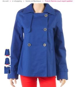 CAMAIEU veste bleu