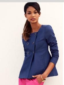 H&M veste bleu