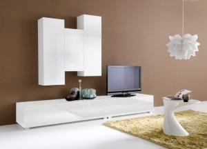Meuble de tv blanc laqué - Achatdesign.com
