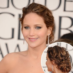 Chignon Jennifer Lawrence