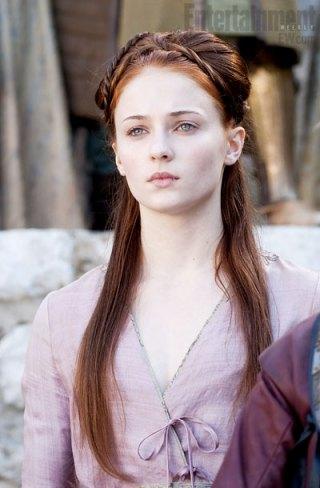 Sansa Stark et sa coupe - Cultureandbeaute
