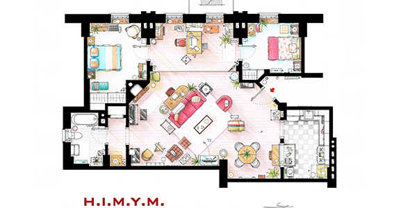 plan appartement gossip girl