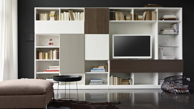 Awesome Biblioth Que Tv Design Photos