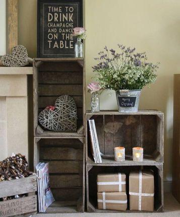 belle étagère cagettes en bois