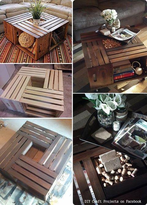 caisse en bois pour table basse