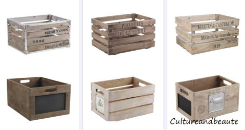 Diy des caisses en bois pour une d co sympa blog - Deco avec caisse en bois ...