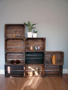 Diy des caisses en bois pour une d co sympa blog - Etagere en bois a faire soi meme ...