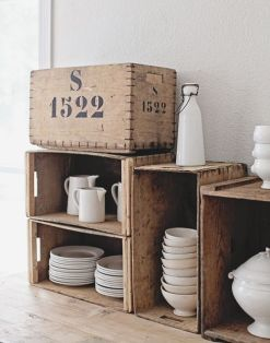caisses en bois vaisselle