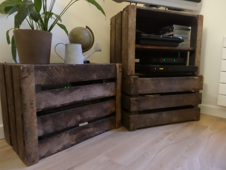 Que faire avec des caisses en bois beautiful caisse vin bois deco meuble avec caisse en bois - Meuble tv caisse bois ...