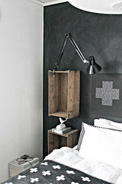 DIY table de chevet caisse en bois