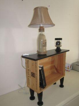 table de nuit cagette bois
