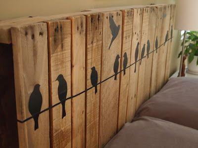 tete de lit oiseaux - Pinterest - Cultureandbeaute