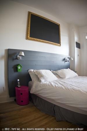 tete de lit gris - Pinterest - Cultureandbeaute