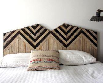 tete de lit bois - Pinterest - Cultureandbeaute