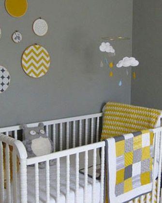 Chambre bébé mixte jaune| Cultureandbeaute