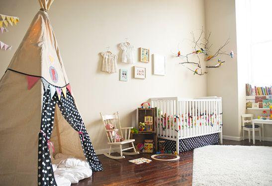 Déco chambre bébé fille tipi | Cultureandbeaute