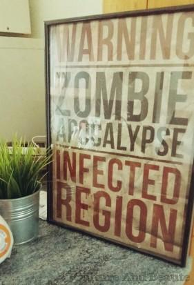 Détail déco affiche zombie| Cultureandbeaute