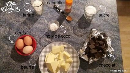 ingrédients du brownie - Cultureandbeaute