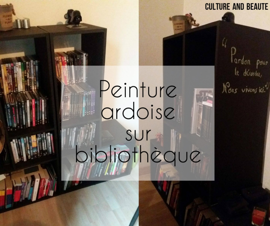 bibliotheque DIY ardoise - Cultureandbeaute