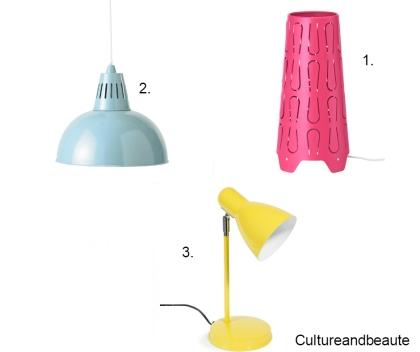 sélection lampe de couleurs - Cultureandbeaute